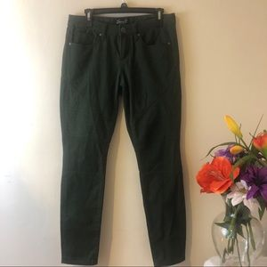 Seven7 Green Moto Skinny Jeans